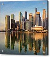 Singapore Financial Skyline, Singapore Acrylic Print