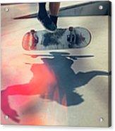 Skateboarder Doing An Ollie Acrylic Print