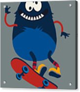 Skater Monster Victor Design For Kids Acrylic Print