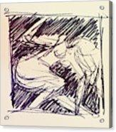 Sketch Of Woman Acrylic Print