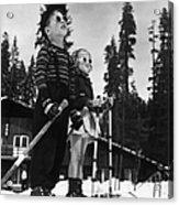Ski Kids Acrylic Print