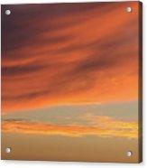 Skies Of Orange Acrylic Print