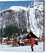 Skiing At Courcheval Acrylic Print