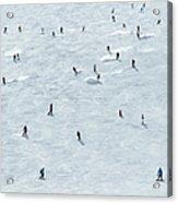 Skiing In Mayrhofen Austria Acrylic Print