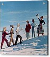 Skiing Party Acrylic Print