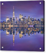 Skyline From Nj Acrylic Print