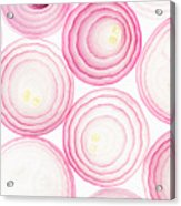 Sliced Pink Onion. Slices. Pattern Acrylic Print
