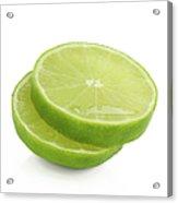Slices Of Fresh, Juicy, Freshly Cut Lime Acrylic Print