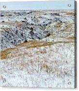 Slope County Snowfall Acrylic Print