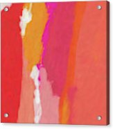 Slow Burn- Abstract Art By Linda Woods Acrylic Print
