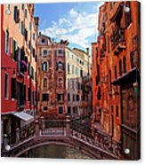 Small Canals In Venice Italy Acrylic Print