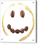 Smile Coffee Beans Acrylic Print