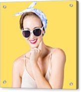 Smiling Pin-up Girl Acrylic Print