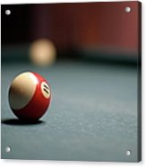 Snooker Ball Acrylic Print