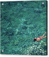 Snorkeling In The Mediterranean Sea Acrylic Print