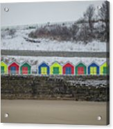 Snow At Barry Island Acrylic Print