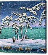 Snow At Hi Marsh, Mito - Digital Remastered Edition Acrylic Print