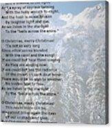 Snow Bells Acrylic Print