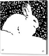 Snow Bunny Rabbit Holiday Winter Acrylic Print