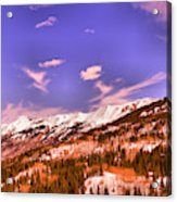 Snow Covered Mountains Acrylic Print