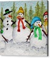 Snow Family Acrylic Print
