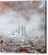 Snow In Zion National Park, Utah Acrylic Print