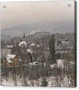 Snowy Bled In Slovenia Acrylic Print
