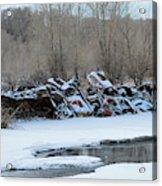 Snowy Graveyard Acrylic Print