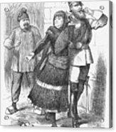 Snubbed, 1883. Artist Joseph Swain Acrylic Print