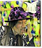 Sonic Exploration - A Jimi Hendrix Portrait Acrylic Print