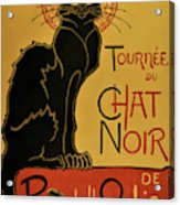 Soon, The Black Cat Tour By Rodolphe Salis - Digital Remastered Edition Acrylic Print