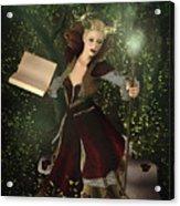 Sorceress And Magic Acrylic Print