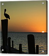 South Padre Island, Texas Sunset With Acrylic Print