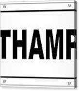 Southampton City Nameplate Acrylic Print