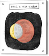 Space, A Venn Diagram Acrylic Print