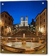 Spanish Steps Piazza Di Spagna Fontana Acrylic Print