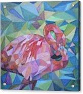 Sparkling Flamingo Acrylic Print