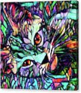 Sparky The Stained Glass Kitten Acrylic Print