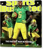 Speed Wins Oregons Deanthony Thomas, The Fastest Man In Sports Illustrated Cover Acrylic Print