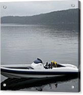 Speedboat, Side View Acrylic Print