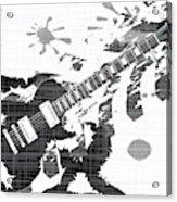Splatter Guitar Acrylic Print
