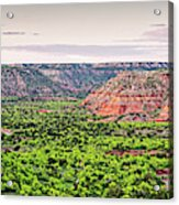 Sprawling Panorama Of Palo Duro Canyon And Capitol Peak - Texas State Park Amarillo Panhandle Acrylic Print