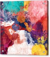 Spring Crush 3- Abstract Art By Linda Woods Acrylic Print