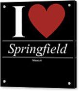 Springfield Missouri Mo Missourian Acrylic Print