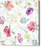 Springtime Bloom Pattern I Acrylic Print