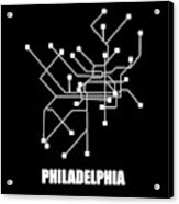 Square Philadelphia Subway Map Acrylic Print