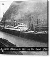 Ss Ancon At The Opening Of The Panama Acrylic Print