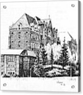 St Charles Hall Carroll College Helena Montana Acrylic Print