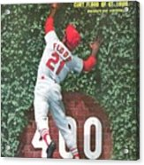 St. Louis Cardinals Curt Flood Sports Illustrated Cover Acrylic Print