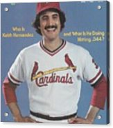 St. Louis Cardinals Keith Hernandez Sports Illustrated Cover Acrylic Print